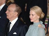 Rupert Murdoch and Nicole Kidman during Simon Wiesenthal Center Honors Rupert Murdoch at Waldorf Astoria in New York City NY United States