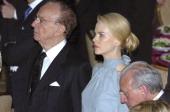 Rupert Murdoch and Nicole Kidman during The Simon Wiesenthal Center Honors Rupert Murdoch at The Waldorf Astoria Grand Ballroom in New York City New...