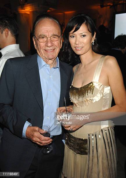 Rupert Murdoch and Wendi Deng during MySpace Presents Rock for Darfur Party Benefiting Oxfam America at Private Estate in Beverly Hills California...