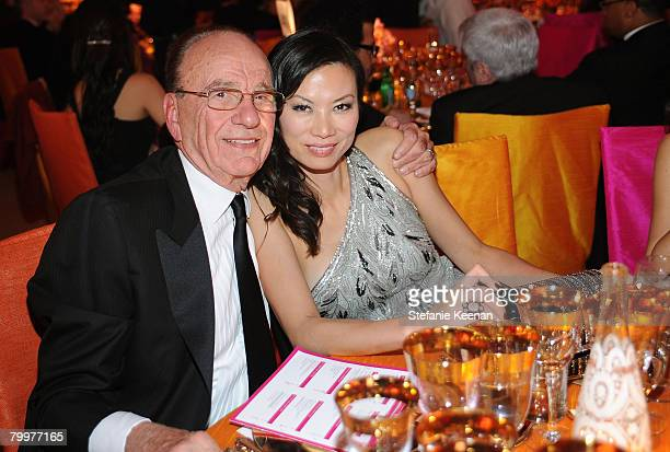 Rupert Murdoch and wife Wendi Deng attend the 16th Annual Elton John AIDS Foundation Oscar Party sponsored by Chopard at the Pacific Design Center on...