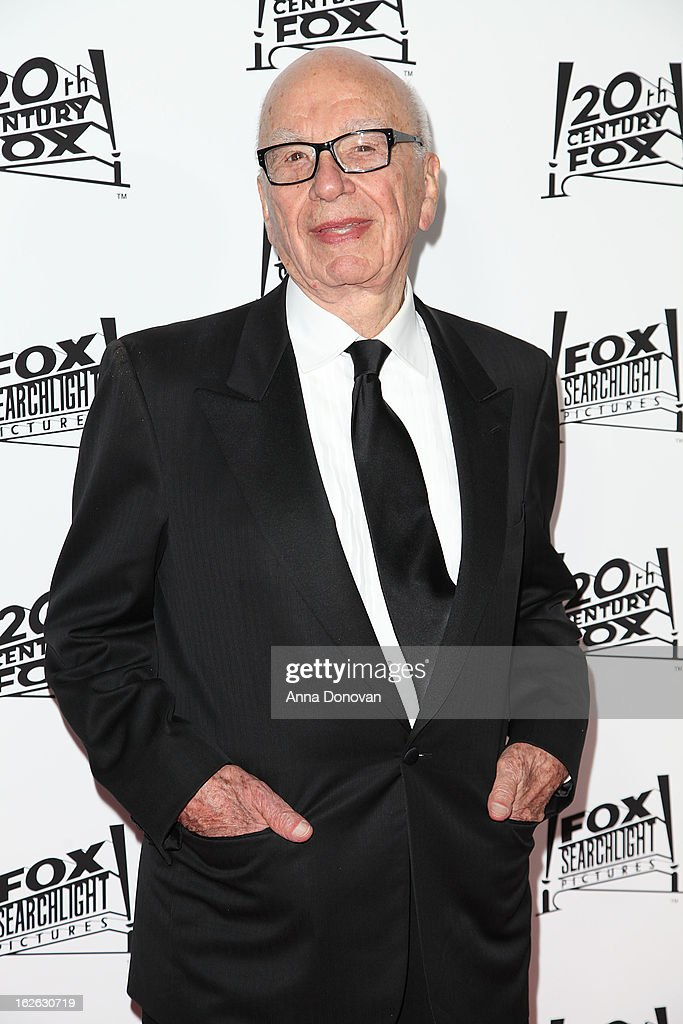 <a gi-track='captionPersonalityLinkClicked' href=/galleries/search?phrase=Rupert+Murdoch&family=editorial&specificpeople=160571 ng-click='$event.stopPropagation()'>Rupert Murdoch</a> arrives to the Twentieth Century Fox and Fox Searchlight Pictures Academy Awards Nominees Party at Lure on February 24, 2013 in Hollywood, California.