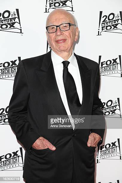 Rupert Murdoch arrives to the Twentieth Century Fox and Fox Searchlight Pictures Academy Awards Nominees Party at Lure on February 24 2013 in...