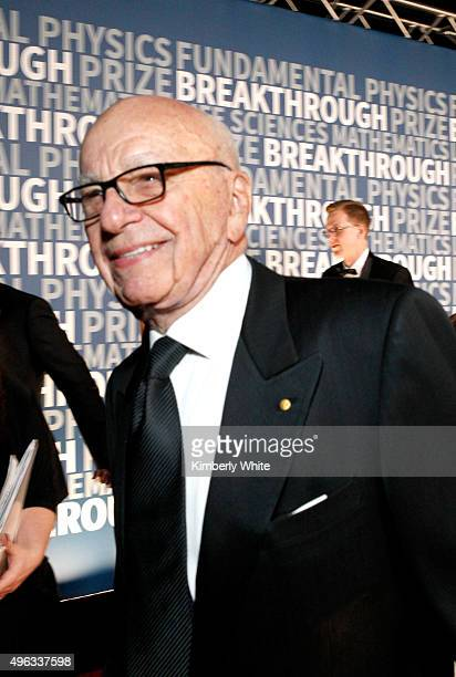 Rupert Murdoch attends the 2016 Breakthrough Prize Ceremony on November 8 2015 in Mountain View California