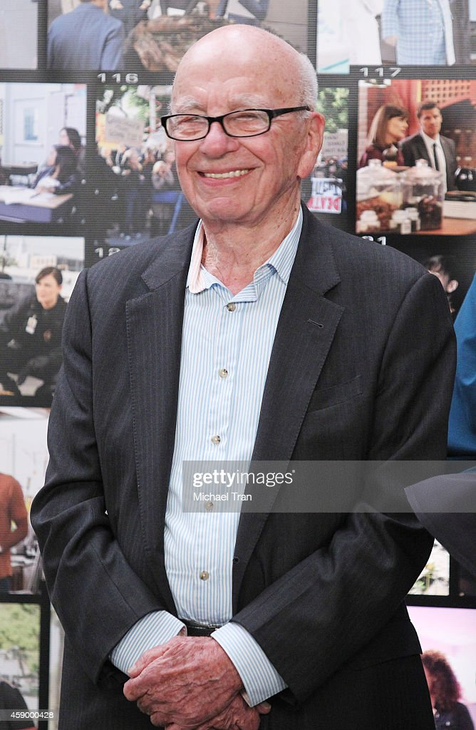 <a gi-track='captionPersonalityLinkClicked' href=/galleries/search?phrase=Rupert+Murdoch&family=editorial&specificpeople=160571 ng-click='$event.stopPropagation()'>Rupert Murdoch</a> attends the 'Bones' 200th episode celebration held at Fox Studio Lot on November 14, 2014 in Century City, California.