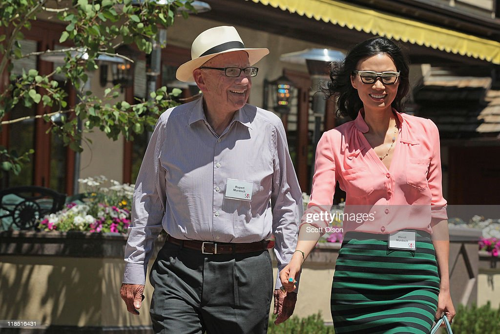 Rupert Murdoch, Chairman and CEO of News Corporation and his wife Wendi attend the Allen & Company Sun Valley Conference on July 8, 2011 in Sun Valley, Idaho. The conference has been hosted annually by the investment firm Allen & Company each July since 1983. The conference is typically attended by many of the world's most powerful media executives.