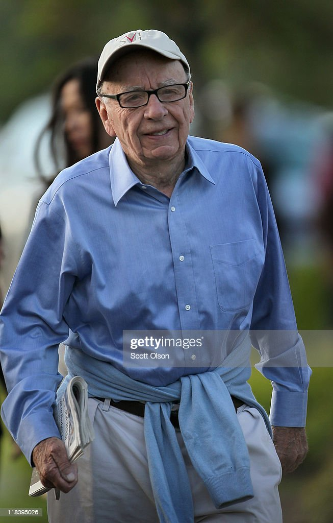 Rupert Murdoch, Chairman and CEO of News Corporation, attends the Allen & Company Sun Valley Conference with his wife Wendi on July 7, 2011 in Sun Valley, Idaho. The conference has been hosted annually by the investment firm Allen & Company each July since 1983 and is typically attended by many of the world's most powerful media executives.