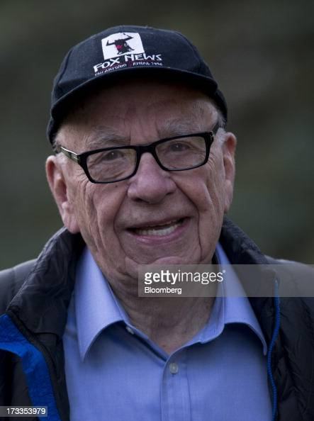 Rupert Murdoch chairman and chief executive officer of News Corp arrives to a morning session at the Allen Co Media and Technology Conference in Sun...
