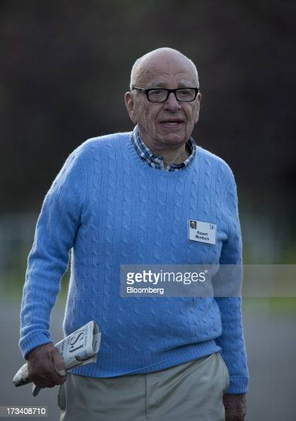 Rupert Murdoch chairman and chief executive officer of News Corp walks to a morning session at the Allen Co Media and Technology Conference in Sun...