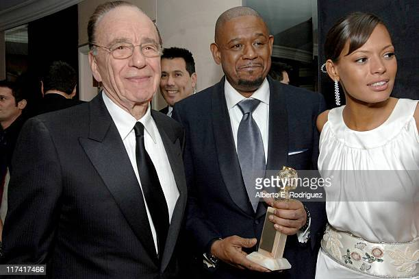 Rupert Murdoch Forest Whitaker and Keisha Whitaker