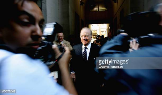 Rupert Murdoch sits in the service at St Brides Church June 15 in London England The St Brides Church on Fleet Street is holding a service to mark...
