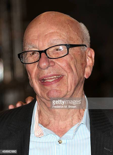 Rupert Murdoch speaks during Fox Celebrates 'Bones' 200th Episode at the Fox Studio Lot on November 14 2014 in Century City California