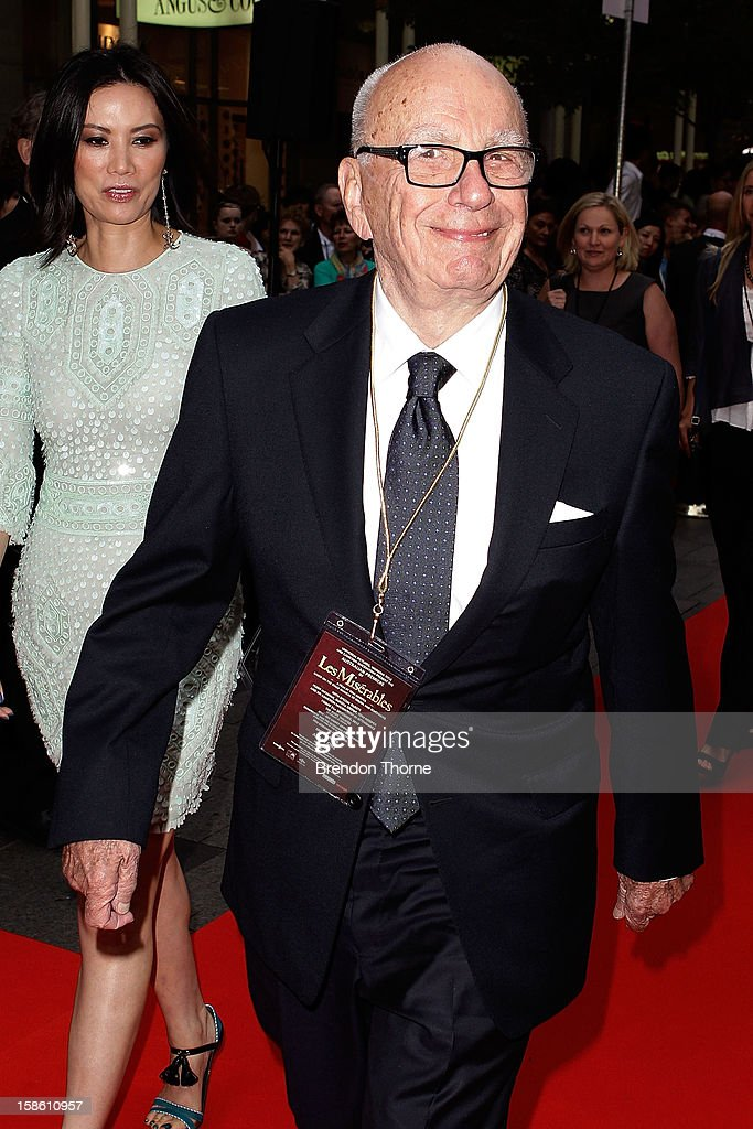 <a gi-track='captionPersonalityLinkClicked' href=/galleries/search?phrase=Rupert+Murdoch&family=editorial&specificpeople=160571 ng-click='$event.stopPropagation()'>Rupert Murdoch</a> walks the red carpet during the Australian premiere of 'Les Miserables' at the State Theatre on December 21, 2012 in Sydney, Australia.