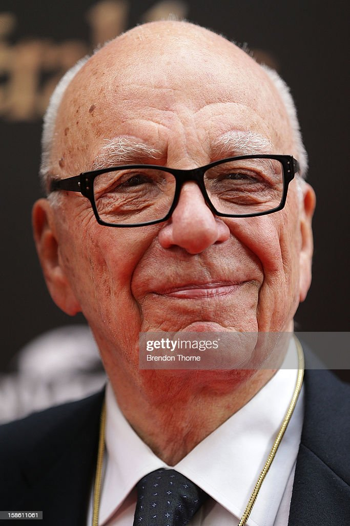 Rupert Murdoch walks the red carpet during the Australian premiere of 'Les Miserables' at the State Theatre on December 21, 2012 in Sydney, Australia.