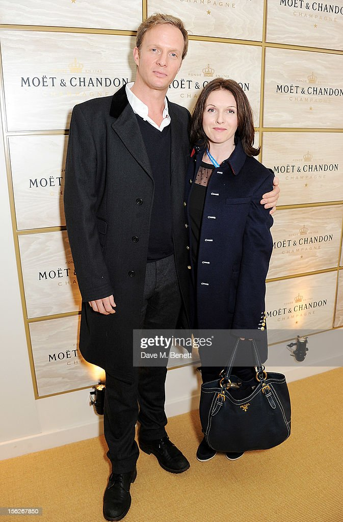 Rupert Penry-Jones (L) and <a gi-track='captionPersonalityLinkClicked' href=/galleries/search?phrase=Dervla+Kirwan&family=editorial&specificpeople=3061546 ng-click='$event.stopPropagation()'>Dervla Kirwan</a> attend the Moet & Chandon VIP Suite during day eight of the ATP World Finals at the O2 Arena on November 12, 2012 in London, England.