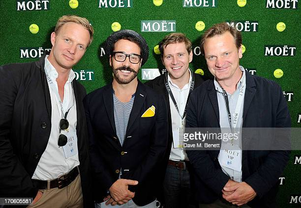 Rupert PenryJones Jeremy Piven Allen Leech and Tom Beard attend The Moet Chandon Suite at The Aegon Championships Queens Club SemiFinals on June 15...