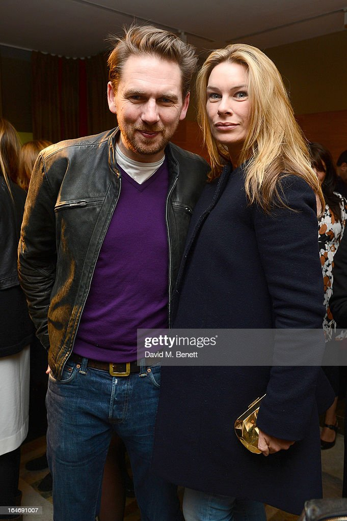 Rupert Sanderson and Pippa Vosper attend a cocktail party for shoe designer Rupert Sanderson, hosted by Mariella Frostrup, at his Bruton Place store on March 26, 2013 in London, England.