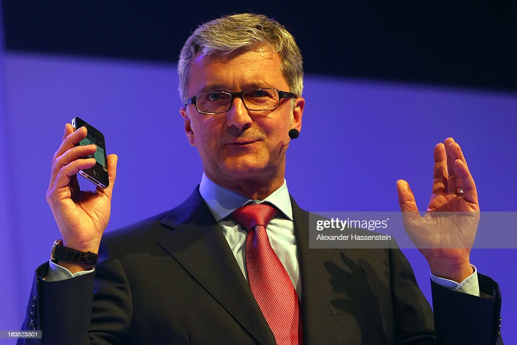 <a gi-track='captionPersonalityLinkClicked' href=/galleries/search?phrase=Rupert+Stadler&family=editorial&specificpeople=870122 ng-click='$event.stopPropagation()'>Rupert Stadler</a>, CEO of Audi group looks on during a Audi group reception on March 11, 2013 in Munich, Germany.