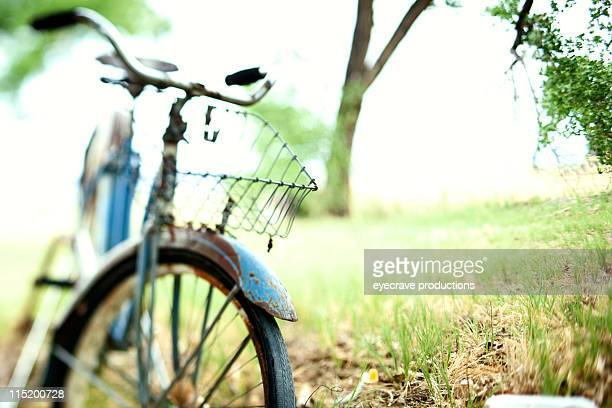 rural bicycle abstract