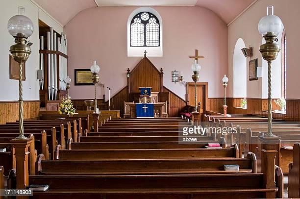 田園教会のインテリア