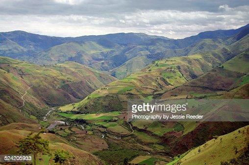 Rural countryside in Ecuadoran Andes