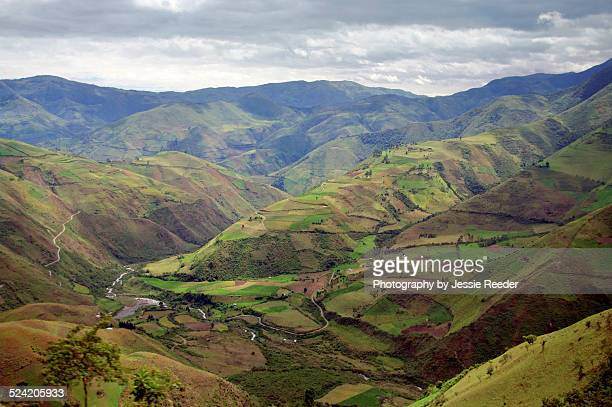 Rural countryside in Ecuadoran Andes