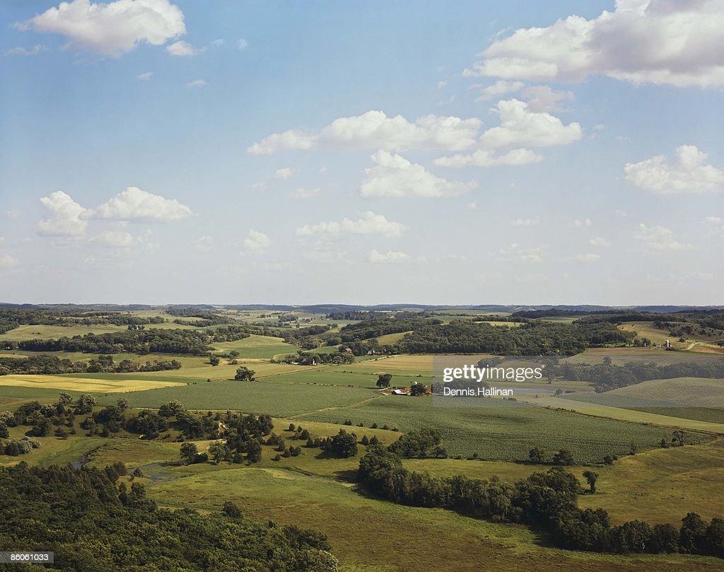 Rural farmland landscape : Stock Photo