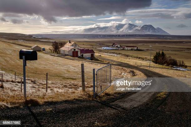 Rural farms are scattered throughout Iceland
