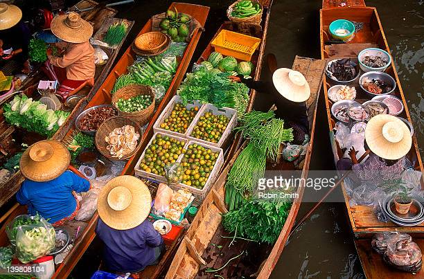 Rural floating market at Damnoem Saduak, Thailand