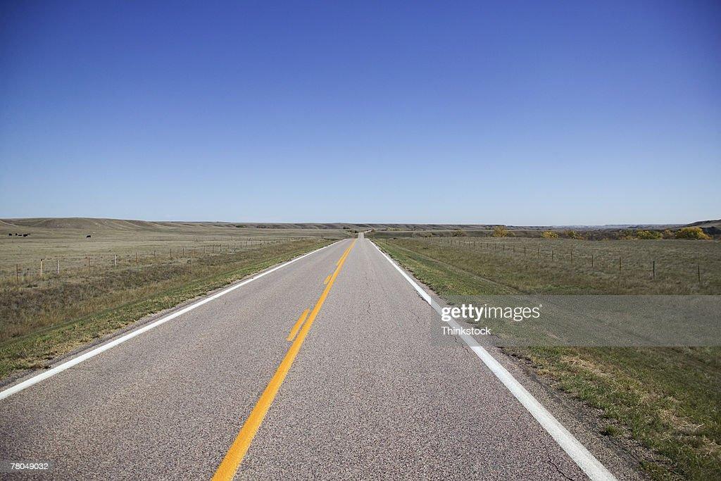Rural highway through South Dakota