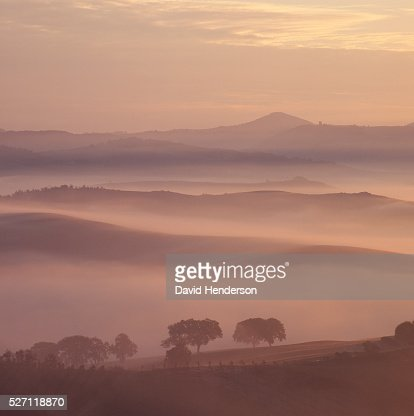 Rural landscape at dawn : Stock-Foto