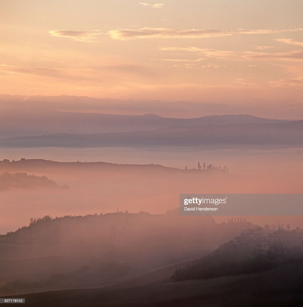 Rural landscape at dawn : Stockfoto
