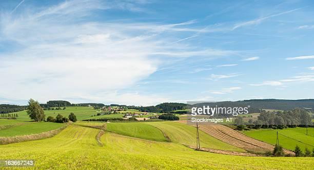 Ländliche Landschaft in Österreich