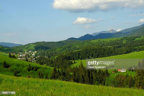 Rural landscape in Tatras mountains of Slovakia