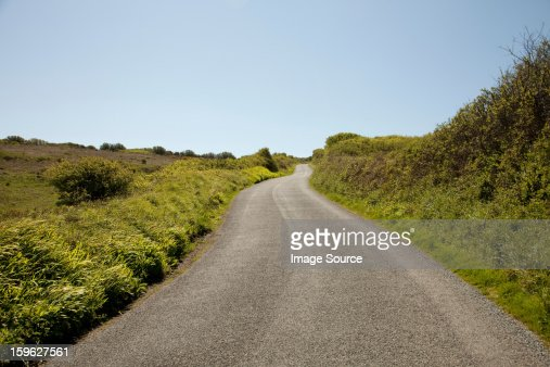 Rural road, Cornwall, England, United Kingdom : Stock Photo