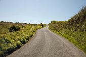 Rural road, Cornwall, England, United Kingdom