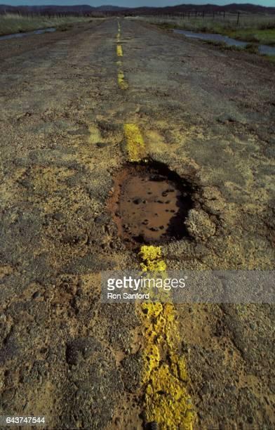 CA rural road pothole.