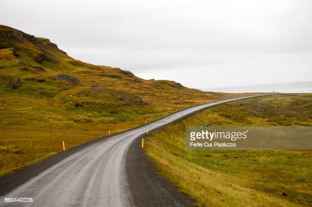 Rural scene and Road near Bru, Northern Iceland