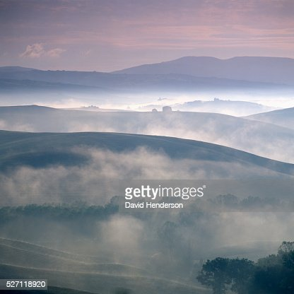 Rural scene at dawn : Stock Photo