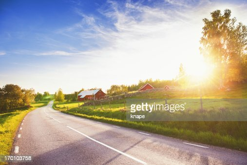 田園風景に linköpingスウェーデン