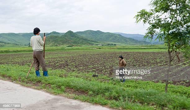A rural scene in Mount Kumgang area