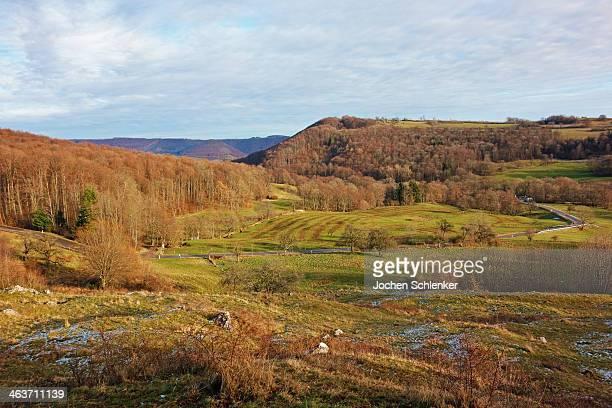 Rural scene near Neidlingen, Swabian Alb
