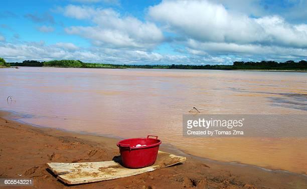 Rural scene on the shores of Rio Beni