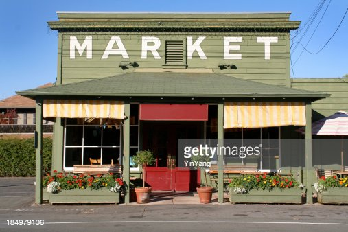 Rural Store Market Building in Country Small Town America