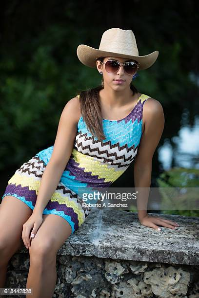 Rural teen with hat