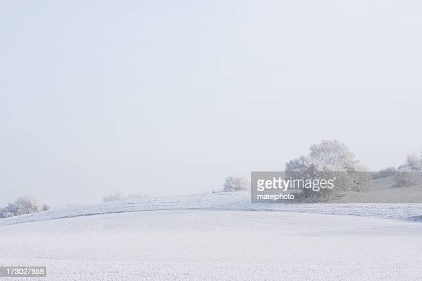 農村冬の風景