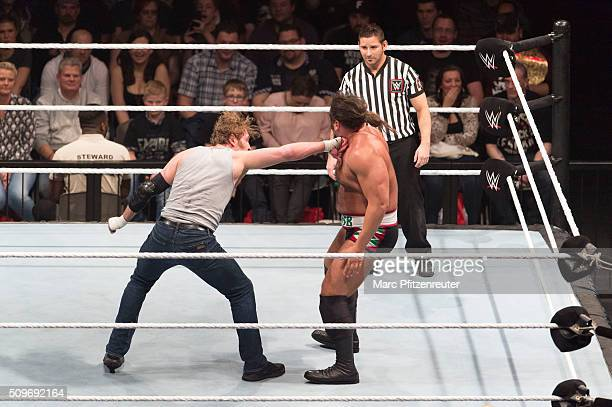Rusev competes in the ring against Dean Ambrose at the Road to WrestleMania at the Lanxess Arena on February 11 2016 in Cologne Germany