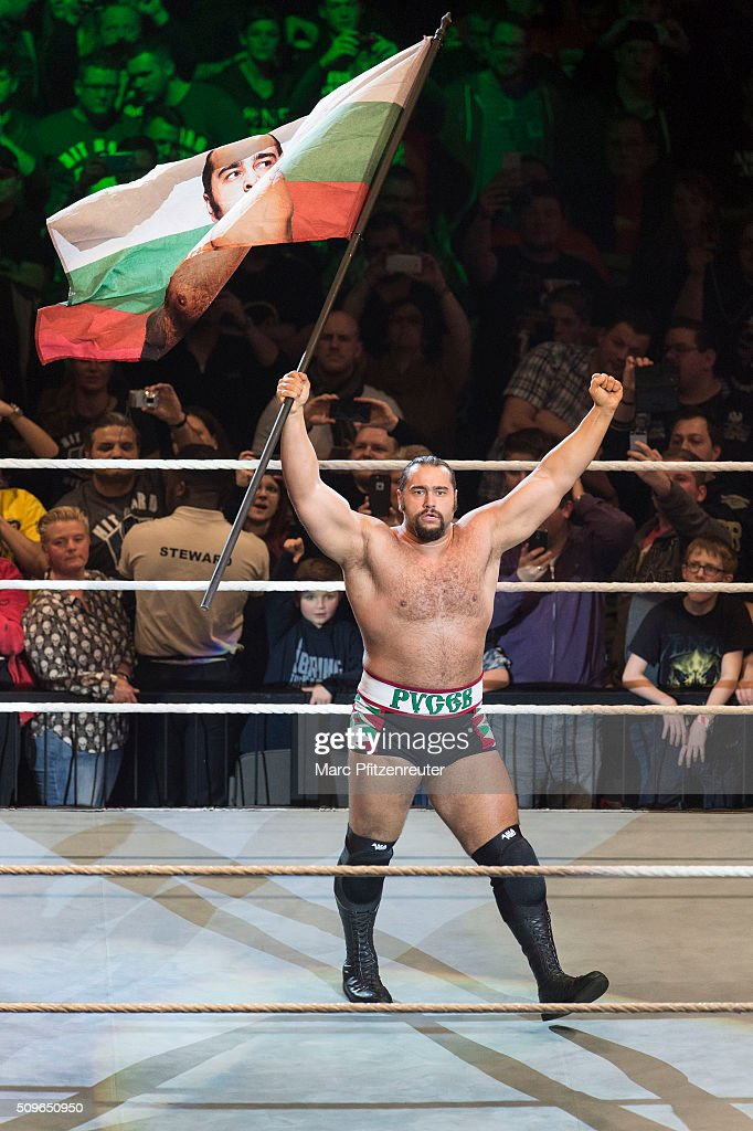 Rusev during WWE Road to WrestleMania at the Lanxess Arena on February 11, 2016 in Cologne, Germany.