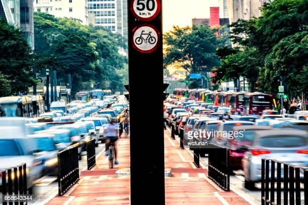 Rush hour at Paulista Avenue