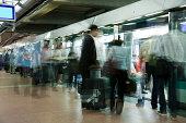 'Rush Hour at Undeground Station in Paris, Motion Blur'