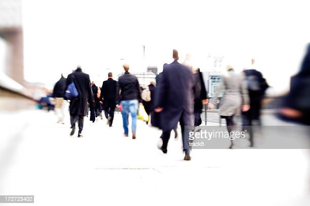 rush hour: business direction abstract blur